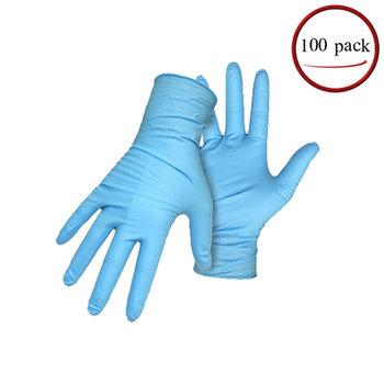 Disposable Nitrile Gloves, Latex-Free, 100 Count