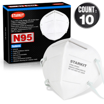Starkit FDA Approved N95 Respirator Disposable Face Mask 10 C/T