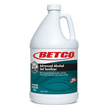 Betco Advanced Gel Sanitizer With Aloe Kills 99.999% of all germs.