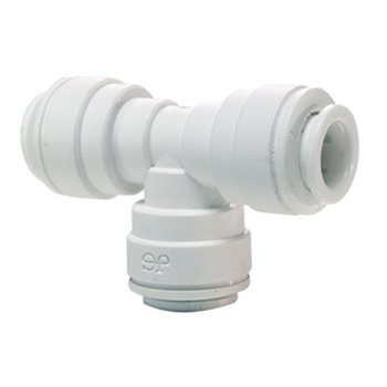 John Guest 1/2 x 1/2 x 3/8 in. Polypropylene Push-to-Connect Reducer Tee Fitting