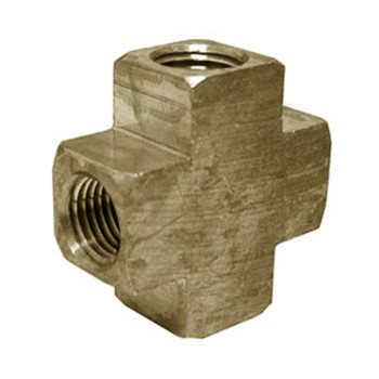 4 Way Cross 3/8 in. Brass Water Fitting