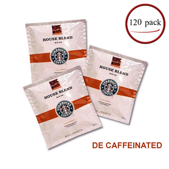 Starbucks House Blend Decaf Coffee Filter Packs 120/CT 1 oz