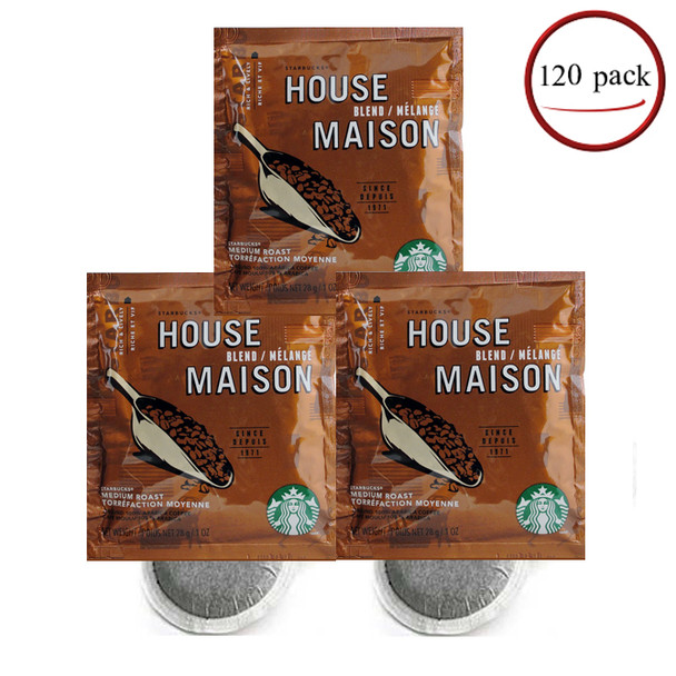 Starbucks House Blend Coffee Filter Packs 120/CT 1 oz