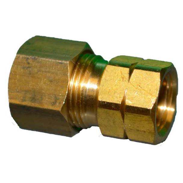 Brass 3/8 Compression X 1/4 Female Flare Adapter