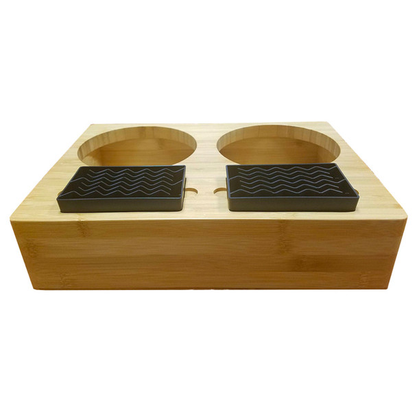 Thermal Airpot Natural Bamboo 2 Pot Display Rack