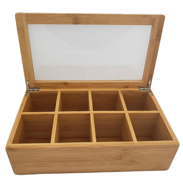 Natural Bamboo 8 Selection Tea Box