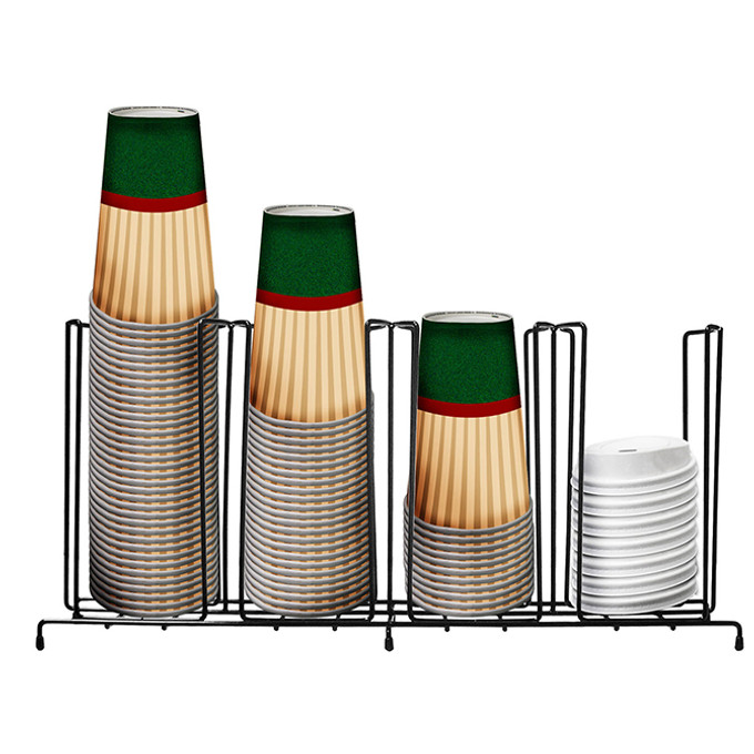 HHD CLF4 Flat Wire 4 Section Cup/Lid Rack