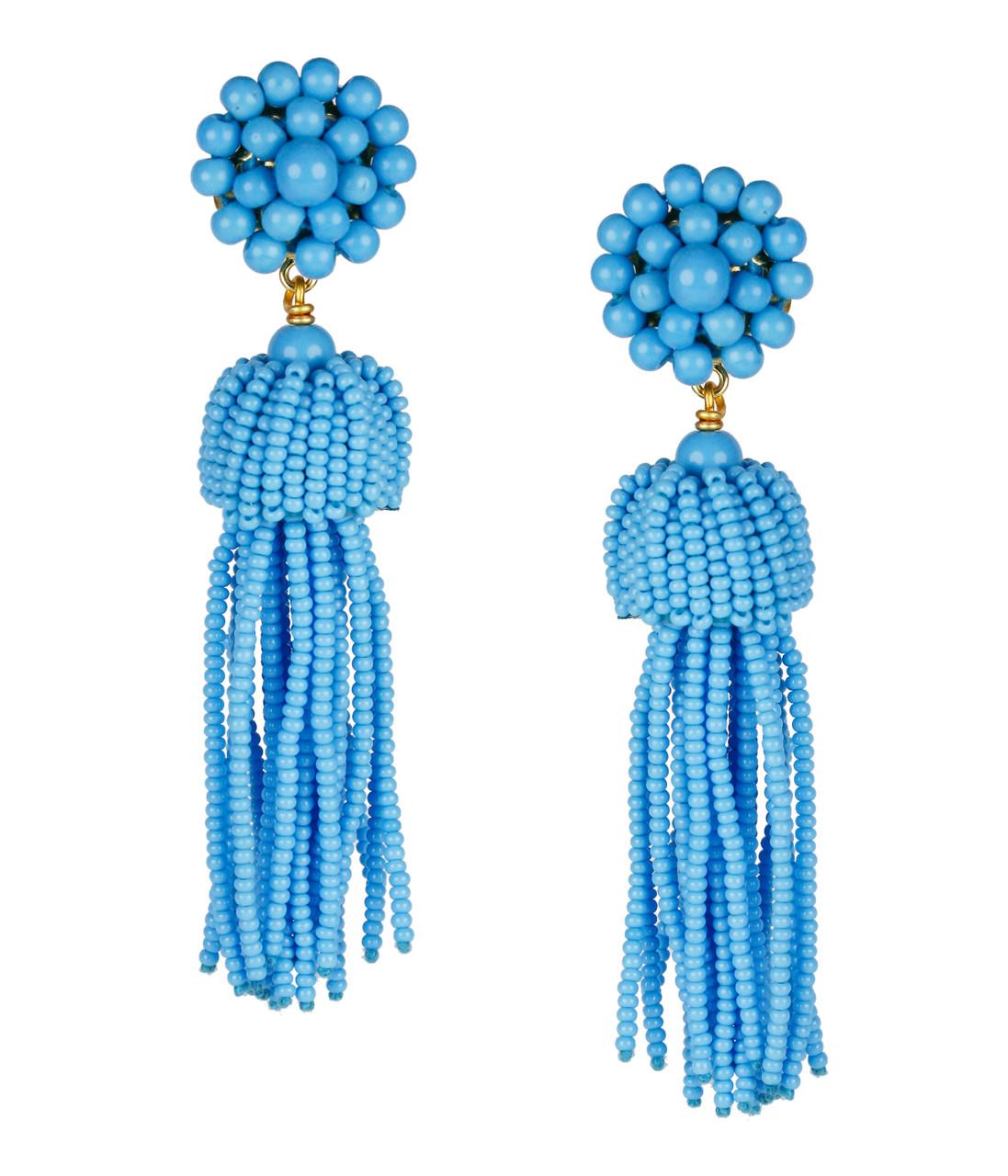 7c00de958 Tassel Earrings - Turquoise - Lisi Lerch