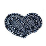 Blue Beaded Heart