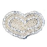 Silver Beaded Hearts