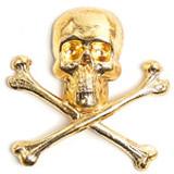 Gold Skull and Bones