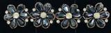 Rhinestone Flowers Navy