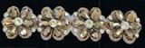 Rhinestone Flowers Silver