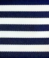 Narrow Navy & White Stripe