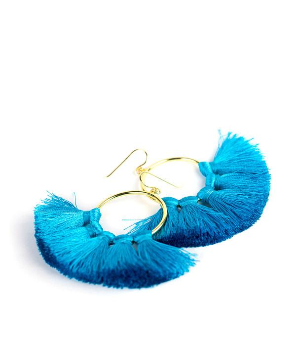 Izzy Gameday Earrings - Turquoise