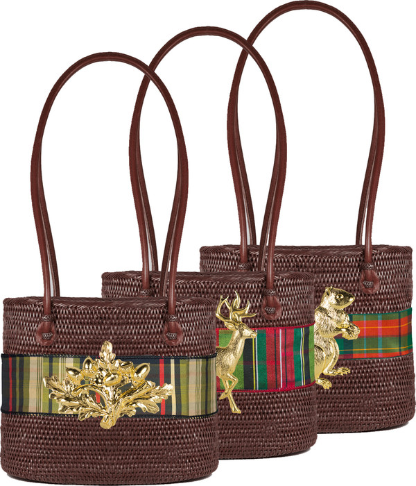 Charlotte Medium Chocolate (MOB) - Holiday Plaid Band