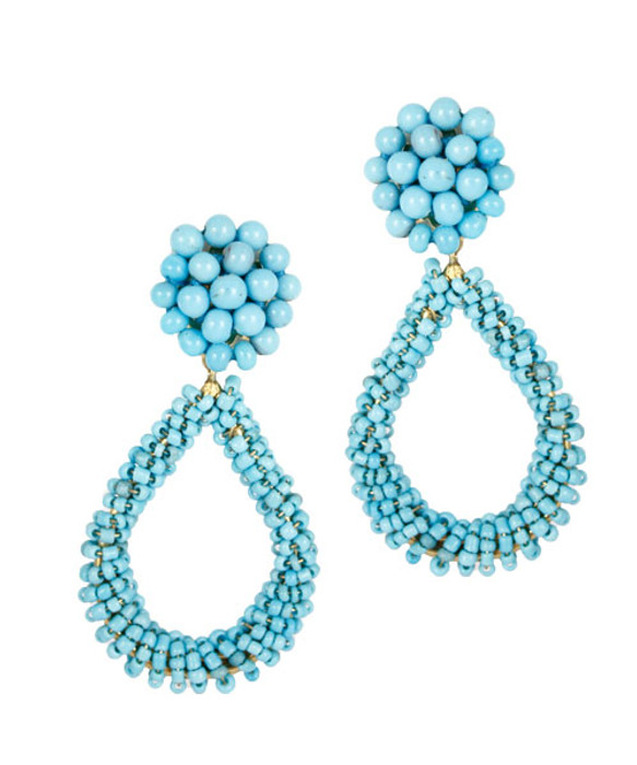 Kate - Turquoise - Clip- On (FINAL SALE)
