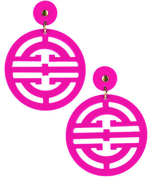 Zoey - Acrylic - Hot Pink