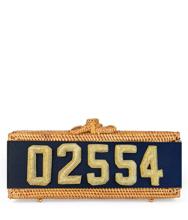 Colette - Embroidered Zip Code - Gold