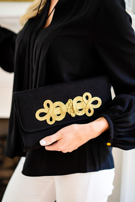 Avery Clutch - Black - Applied Adornment