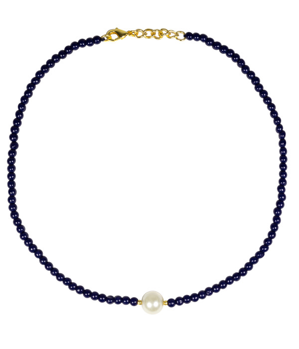 Paige Choker - Navy & Pearl