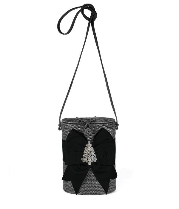 Julie Black - Holiday Bow & Rhinestone Adornment
