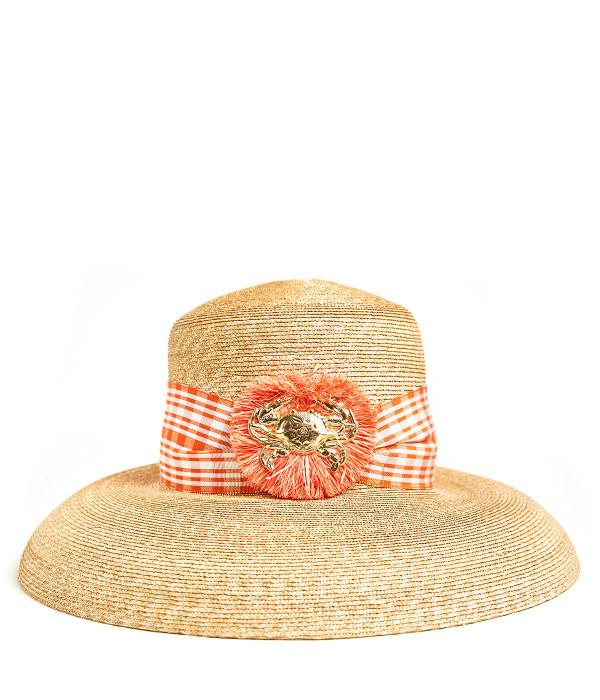 Lauren Hat - Medium - Raffia Round