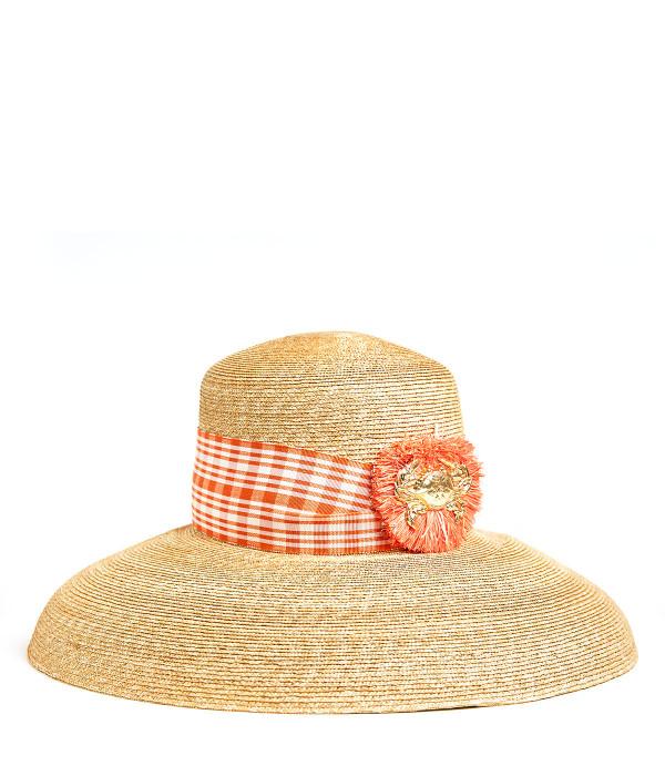 Lauren Hat - Large - Raffia Round