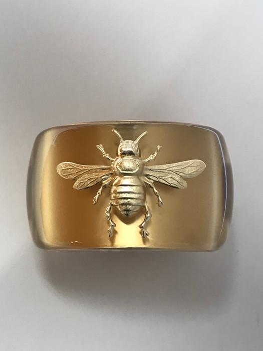 Wide Gold Cuff - Bee