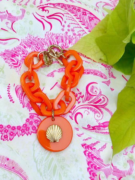 Acrylic Charm Bracelet - Orange