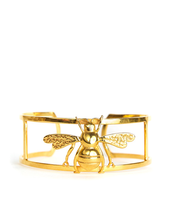 Gold Bee Cuff