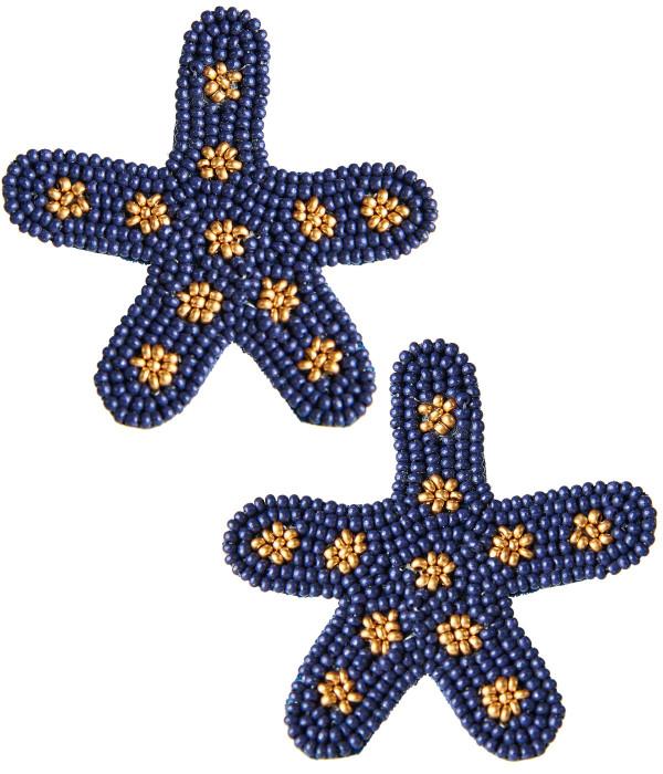Starfish  Navy and Gold