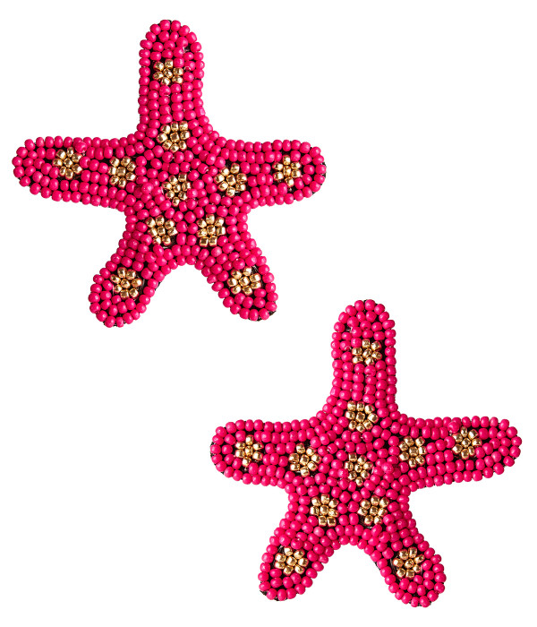 Starfish - Pink and Gold
