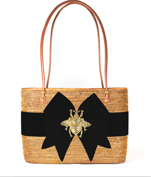 Charlotte Large - Fluffy Bow Black - Bee
