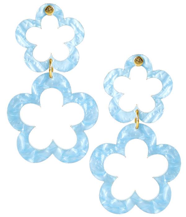 Janie - Acrylic - Blue Shell