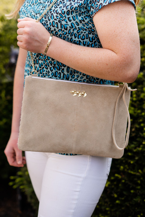 Elise Clutch - Taupe & Moscow