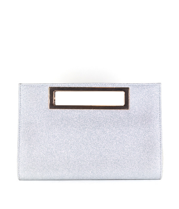 Chloe Clutch - Silver SAMPLE FINAL SALE
