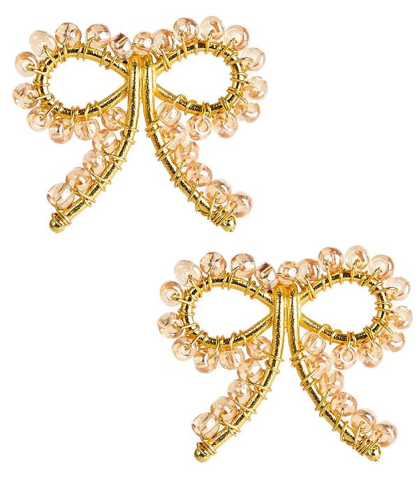 Little Bow Earrings - Champagne