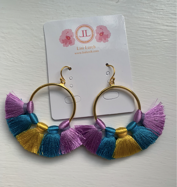 Izzy- Lilac/Teal/Gold SAMPLE FINAL SALE