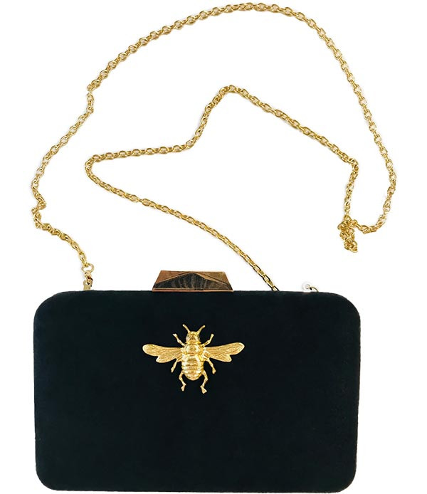 Mimi Black Clutch - Bee