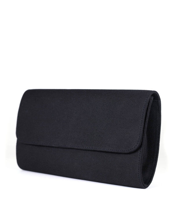 Avery Clutch - Black - XL Gold Charms