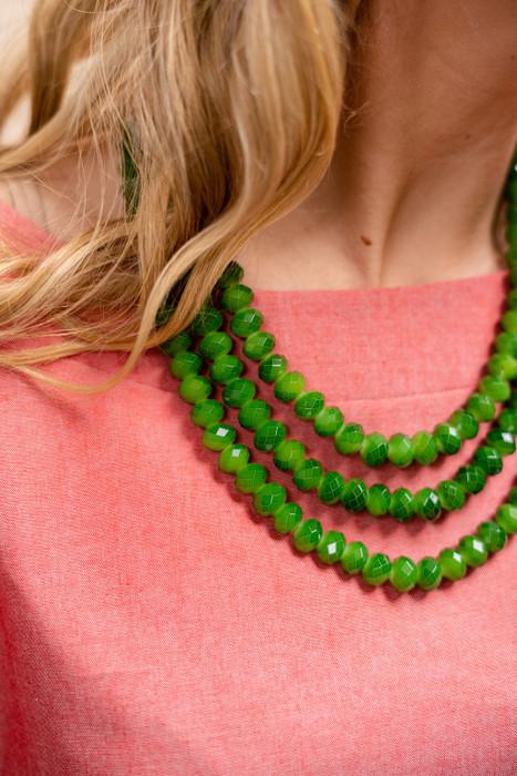 Diana Triple Strand Beaded Necklace