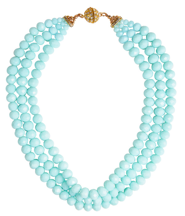 Diana Triple Strand Beaded Necklace
