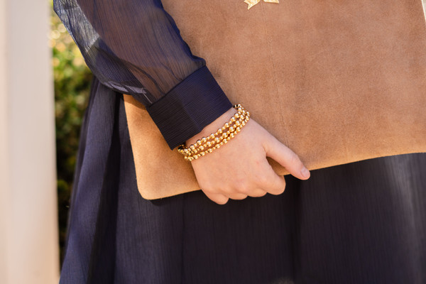 Ivy - Small Gold Beaded Bracelet