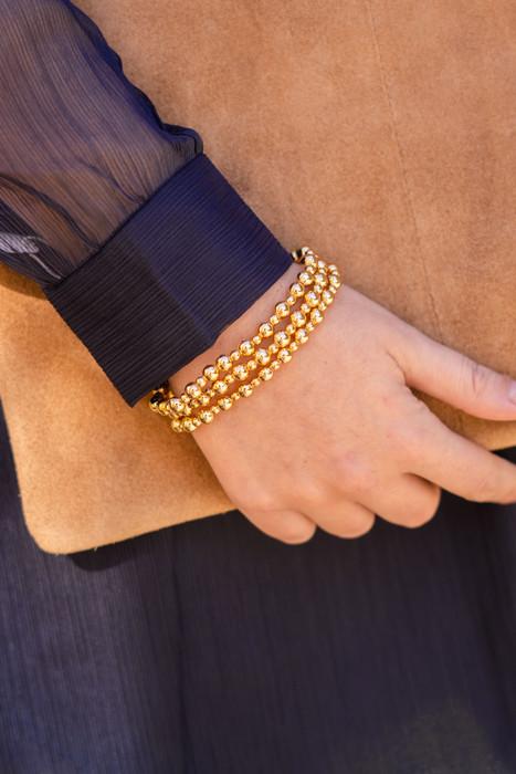 Ivy - Small Gold Beaded Bracelet