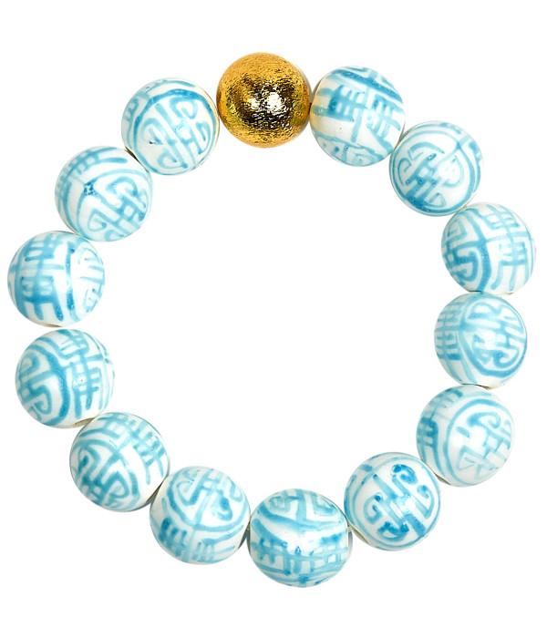 Georgia Beaded Bracelet - Patterned