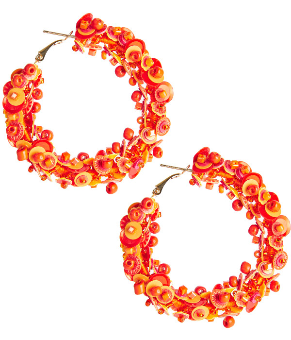 Maisy Hoops - Orange