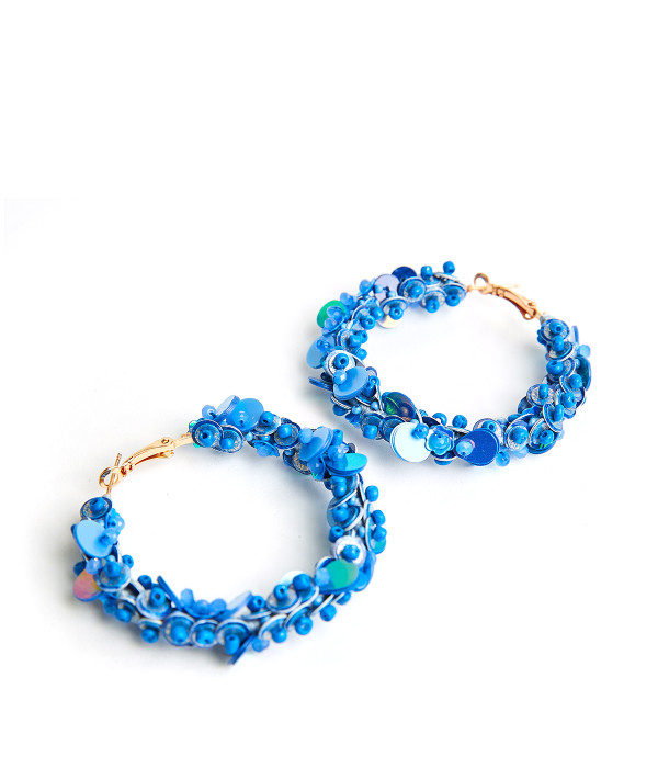 Maisy Hoops - Blue