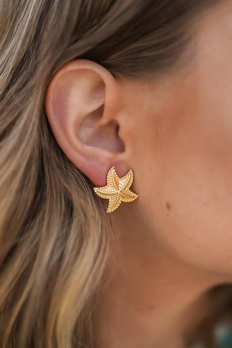 Starfish Stud - Gold
