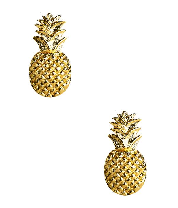 Pineapple Stud - Gold